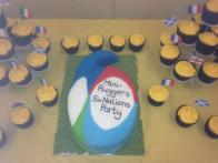 Six Nations cake for our party